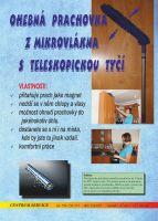 Prachovka 47 cm s teleskopickou tyčí o délce 125 cm