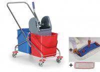 Úklidový set Duo Standard - vozík, mop, Al tyč, 2 návleky