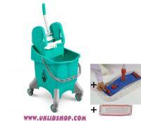 Úklidový set Single Junior - vozík, mop, Al tyč, 2 návleky