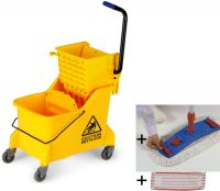 Úklidový set Single Max - vozík, mop, AL tyč, 2 návleky