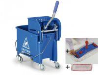 Úklidový set Single Mini - vozík, mop, Al tyč, 2 návleky