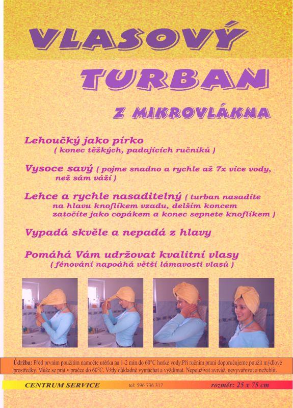 Vlasový turban z mikrovlákna Centrum Service